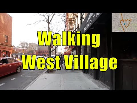 ⁴ᴷ Walking Tour of West Village, Manhattan, NYC (GPS Overlay)