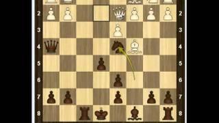 Уроки шахмат - Контратака Тракслера 1