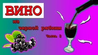Вино домашнее из черноплодной (черной) рябины. Часть 2.