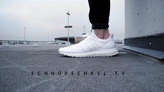 brand new 018b2 d00c5 adidas ultra boost BEST TRIPLE WHITE Invincible x ma maniere review  unboxing on feet