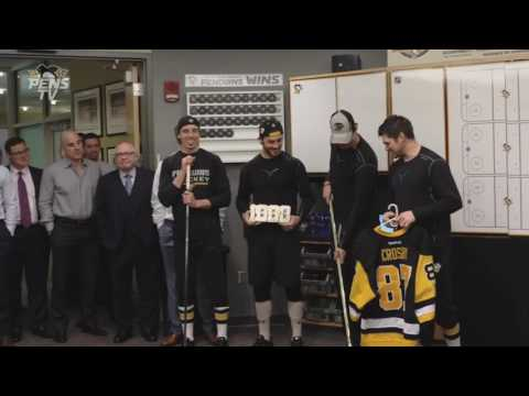 Crosby 1,000 Point Ceremony