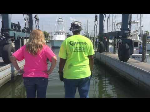 Seabrook Marina Repair Yard Haul Out of Boat