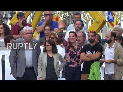 Spain: 'This shall not pass' - Catalans flood the streets as Spanish govt. tightens grip