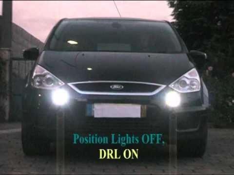 Ford Focus S >> Ford S-Max DRL in Front Fog Lights - YouTube