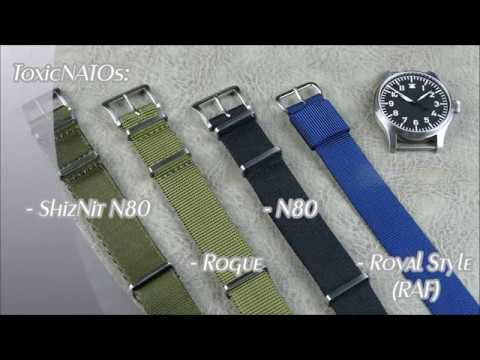 On the Wrist, from off the Cuff: ToxicNATOs – ShizNit N80, N80, Rogue and Royal(RAF) Strap Review