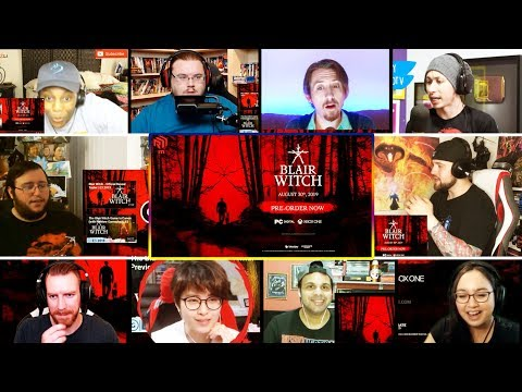 Blair Witch - Official Gameplay Reveal Trailer REACTIONS MASHUP