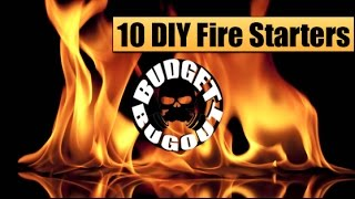 Survival Life Hacks: 10 Cheap DIY Fire Starters | Budget Bugout