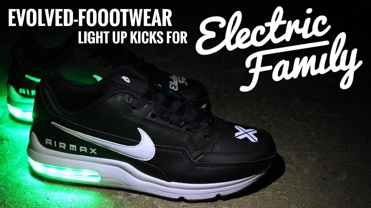 online retailer b198b 82db5 Electric Family Custom Light Up Nikes