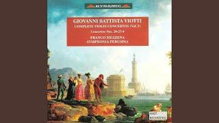 Violin Concerto No. 27 in C Major, G. 142: I. Andante - Allegro vivace