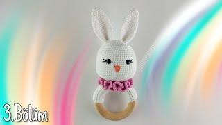 Amigurumi Örme Tavşan Çıngırak - Kulak ve Boyunluk Yapımı 3-3