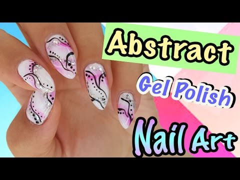 Abstract gel nail designbrush gradient nail art youtube prinsesfo Images