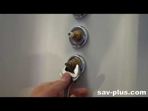 Comment changer sa cartouche thermostatique cabine je - Comment debloquer un robinet thermostatique ...