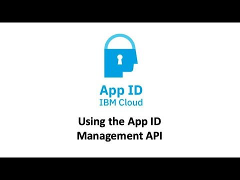 App ID Management - IBM Cloud API Docs