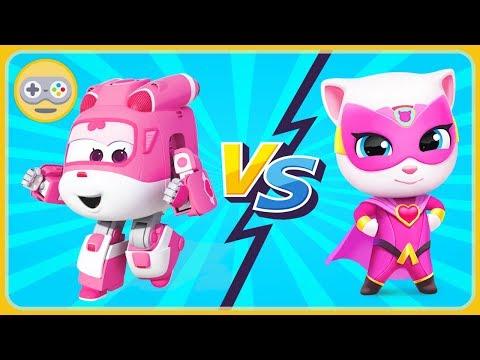 Том погоня героев VS Супер Крылья. Анджела Супергерой VS Диззи Трансформер. Кто круче? #2