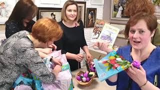 видео: Выставка вышитых картин: процессы, встреча вышивальщиц