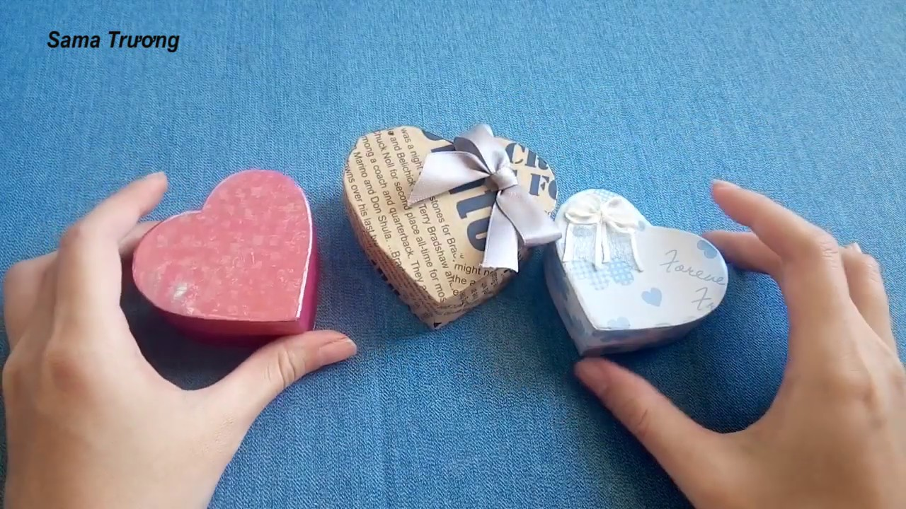Hộp quà trái tim Vanlentine-A Heart Shaped Paper Gift Box – Diy  Heart Box – Paper Craft