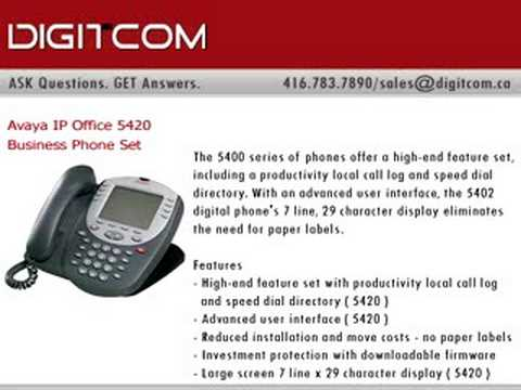 Avaya IP Office 5420 Business Phone Set, Digitcom.ca Telepho