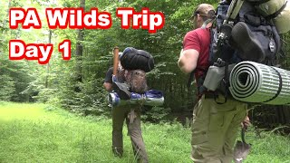 Pennsylvania Wilderness Camping, Fishing, Backpacking Trip (Day 1)