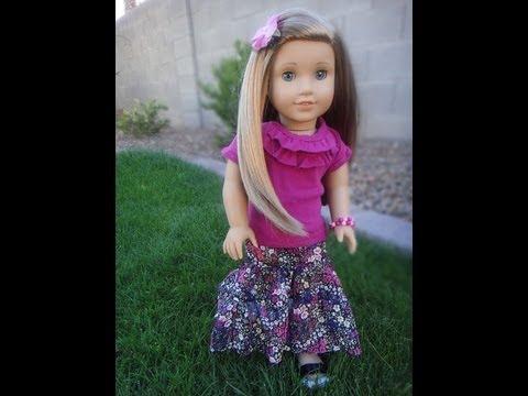 Maxi Skirt Tutorial For American Girl Dolls