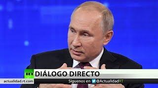 Vladímir Putin responde a las preguntas de los ciudadanos rusos en 'Línea directa'