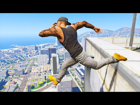 GTA 5: Jumping off Highest Buildings - GTA V Funny Moments #5