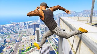 GTA 5: Jumping off Highest Buildings - GTA V Funny Moments #5
