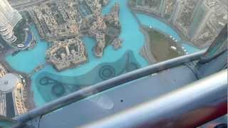 Dubai burj khalifa worlds tallest building looking down