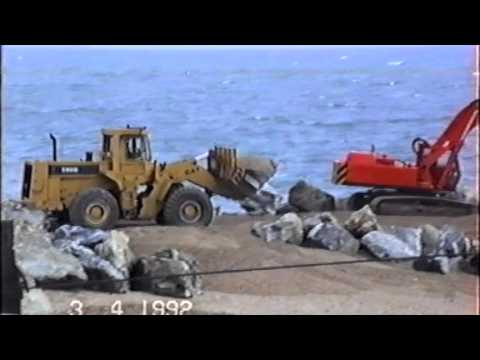 Beesands 1992 Sea Defence work
