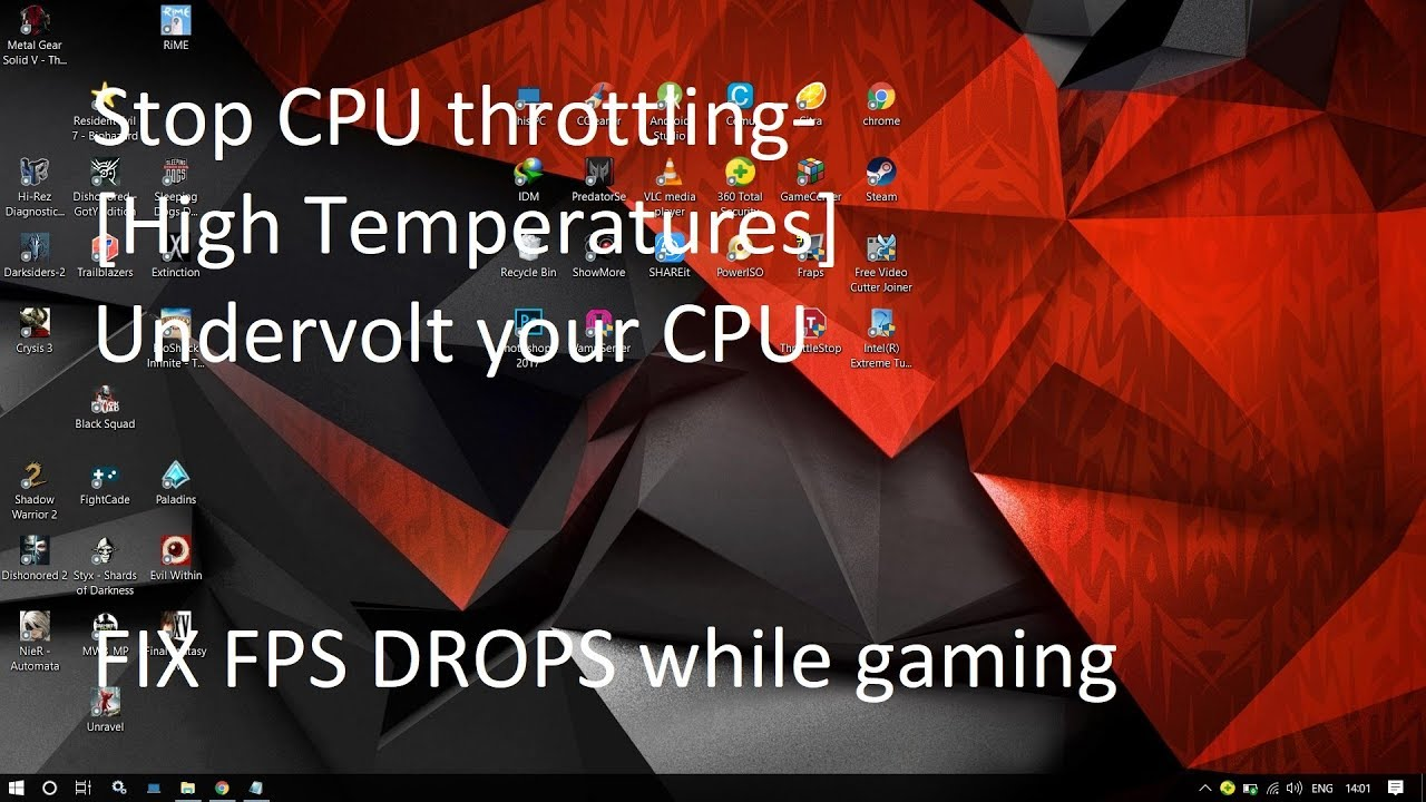 Stop CPU Throttling[Undervolt] | Fix FPS Drops While Gaming In Laptops -  2018