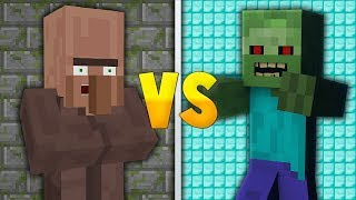 1 ZOMBIE VS 100 VILLAGERS!! - Minecraft Experiment