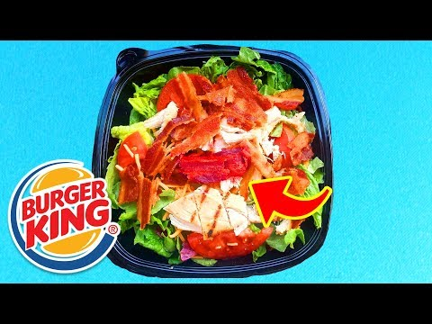 Top 10 Best FAST FOOD SALADS!!!