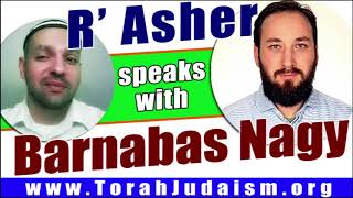 R' Asher speaks with Barnabas Nagy