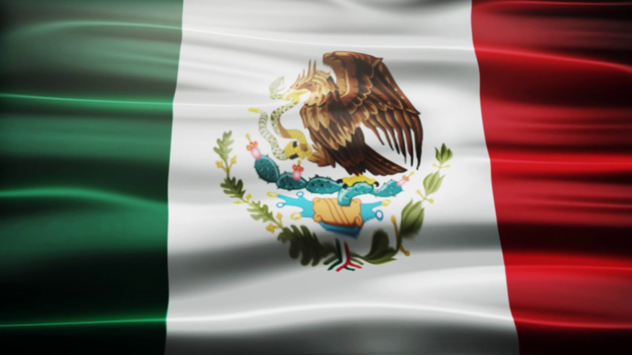Mexico Flag Waving Free Royalty Footage - YouTube