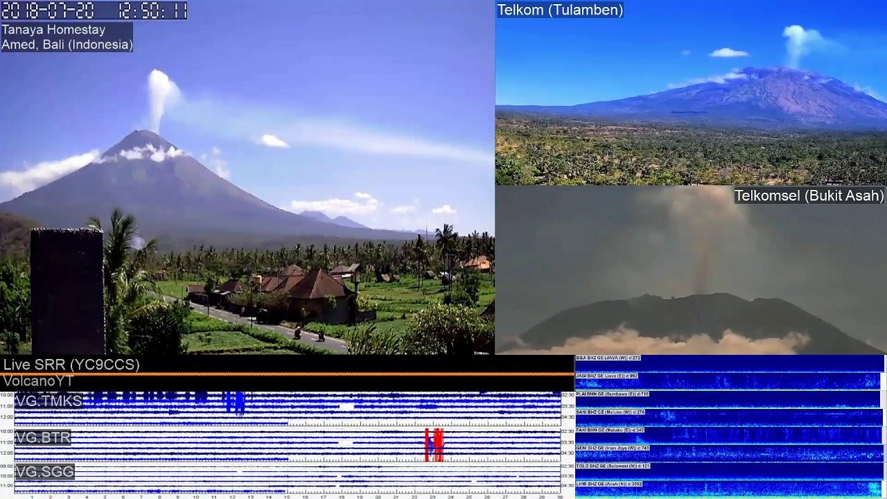 20/7/2018 - Mt Agung Time Lapse