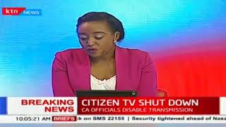 The CA disables transmission of KTN News, Citizen TV, Inooro TV and NTV on free-to-air channels