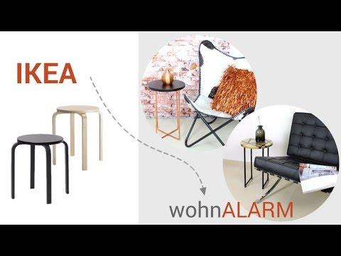 Ikea Hack Wunderschöne Beistelltische Aus Hocker Frosta Youtube