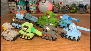 Танк Panther Т-35 и КВ-2 Фигурки из Пластилина своими руками