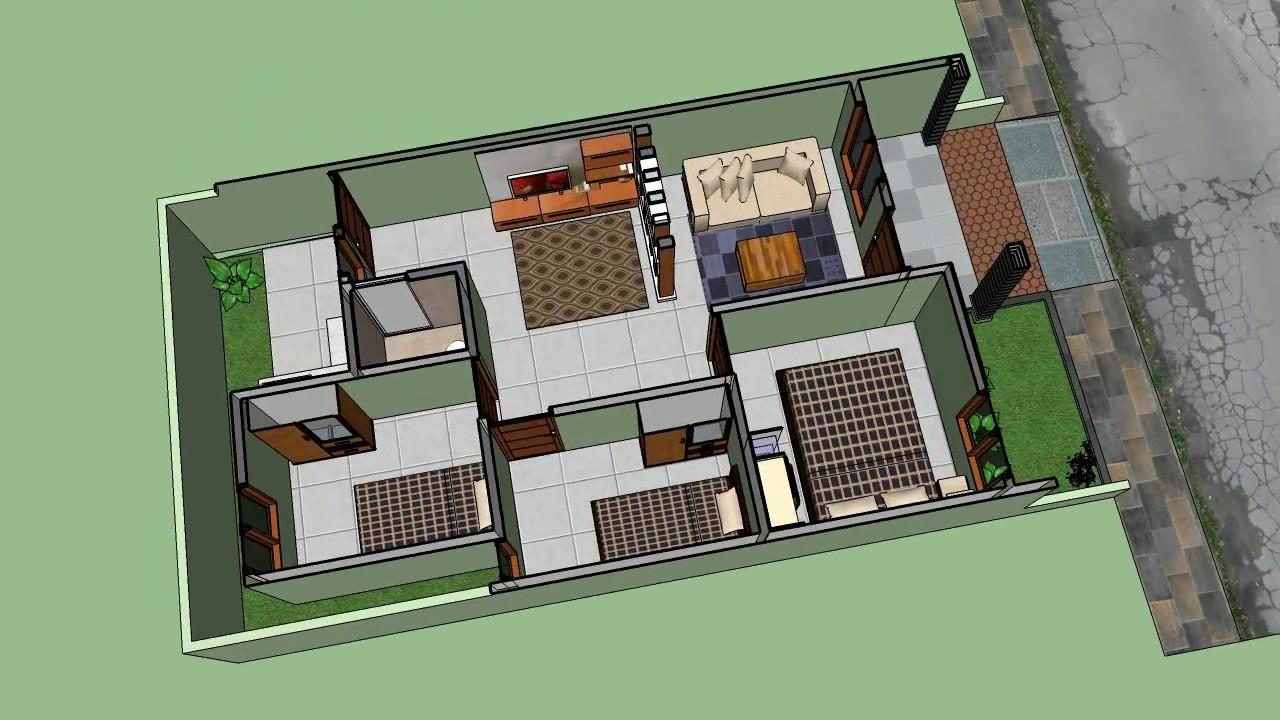 Rumah Minimalis 6 x 12 meter dengan 3 kamar tidur  YouTube