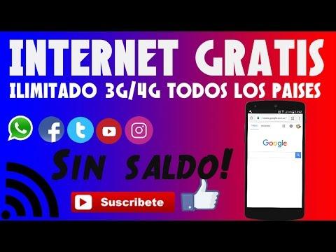 INTERNET GRATIS ILIMITADO SIN SALDO 3G/4G    NUEVO METODO   ARGENTINA Y TODOS LOS PAISES.