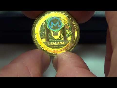 Lealana Brass 5 Monero Token   2016 Monero Physical Crypto By Lealana