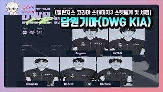 담원기아(DWG KIA) 챌린저스 스텟통계 및 감도&a…