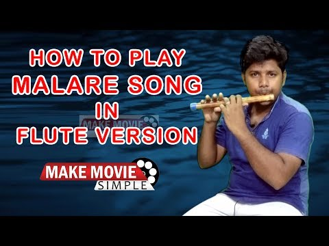 Malare Song Flute Cover and how to play in Flute