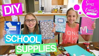 😱😁DIY BACK TO SCHOOL SUPPLIES!! DECORATING PLANNERS, NOTEBOOKS AND FOLDERS!! | Scott and Camber