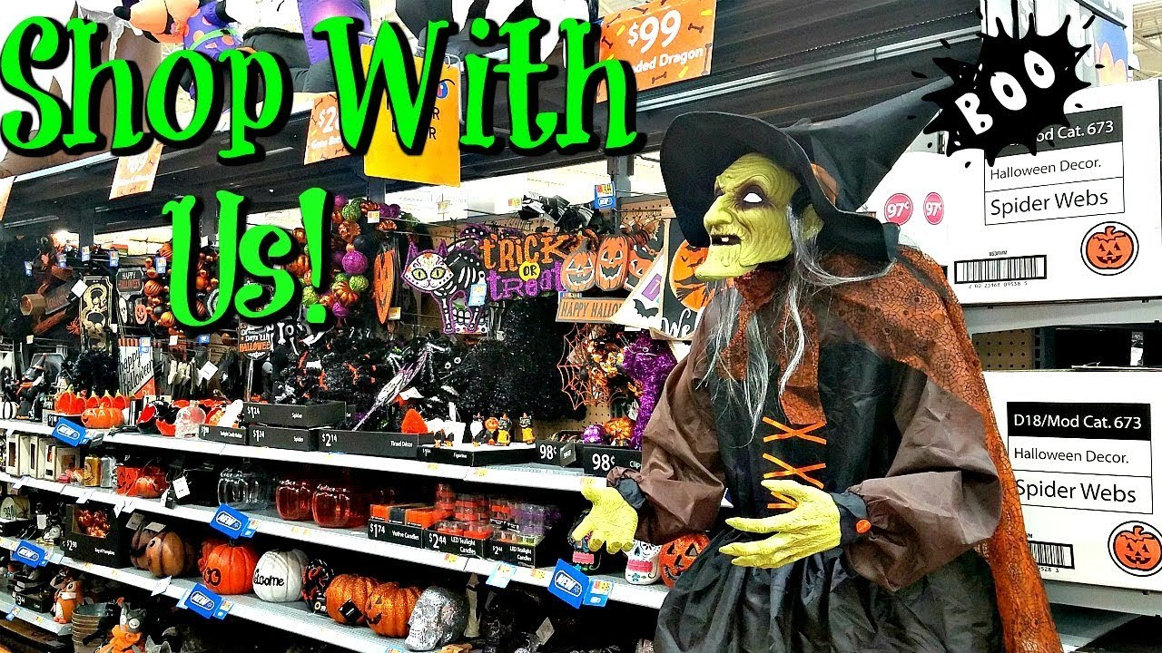 Shop With Me At Walmart Halloween Props And Decorations 2017 Youtube