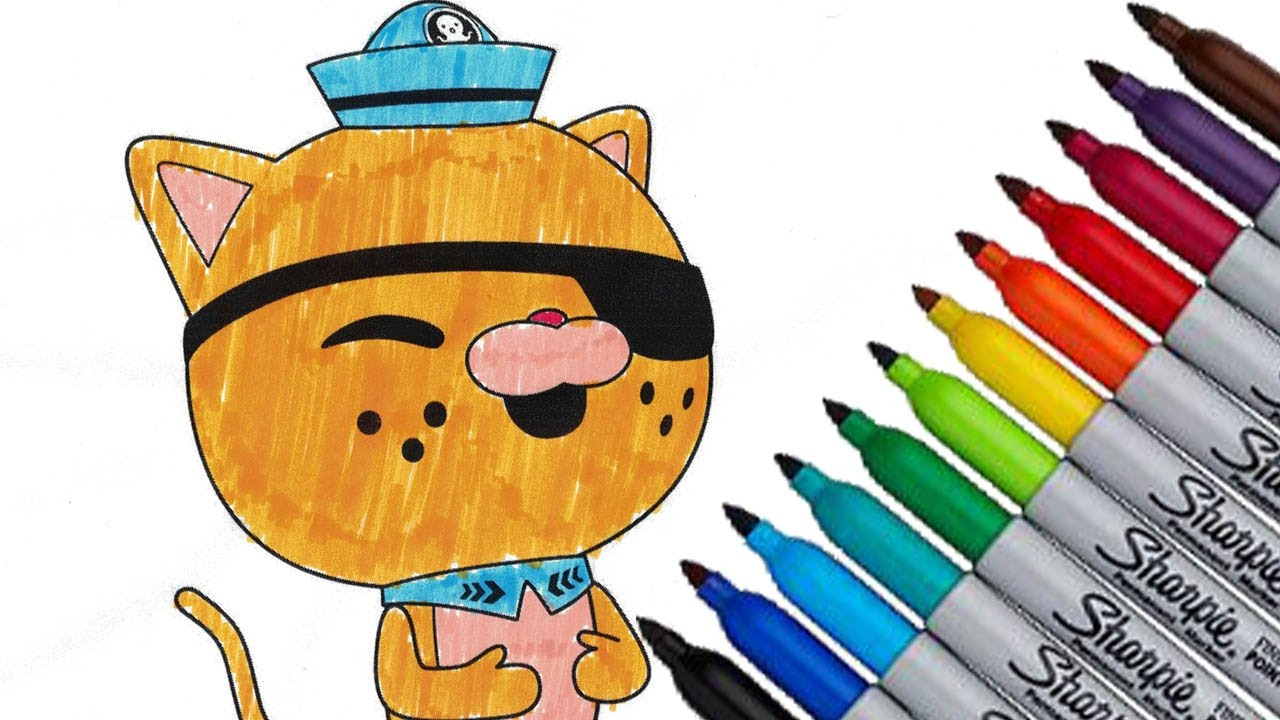 the octonauts kwazii coloring page colorful episode fisher price