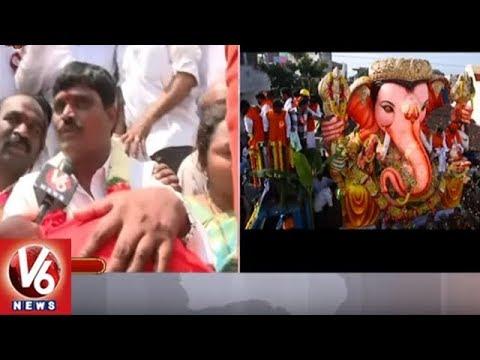 Balapur Laddu Auction Winner Srinivas Gupta Face To Face | Ganesh Immersion 2018 | V6 News