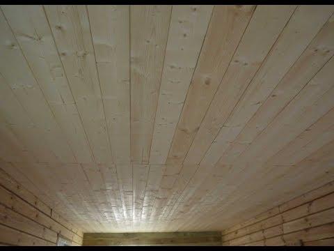 Крепёж вагонки на потолок