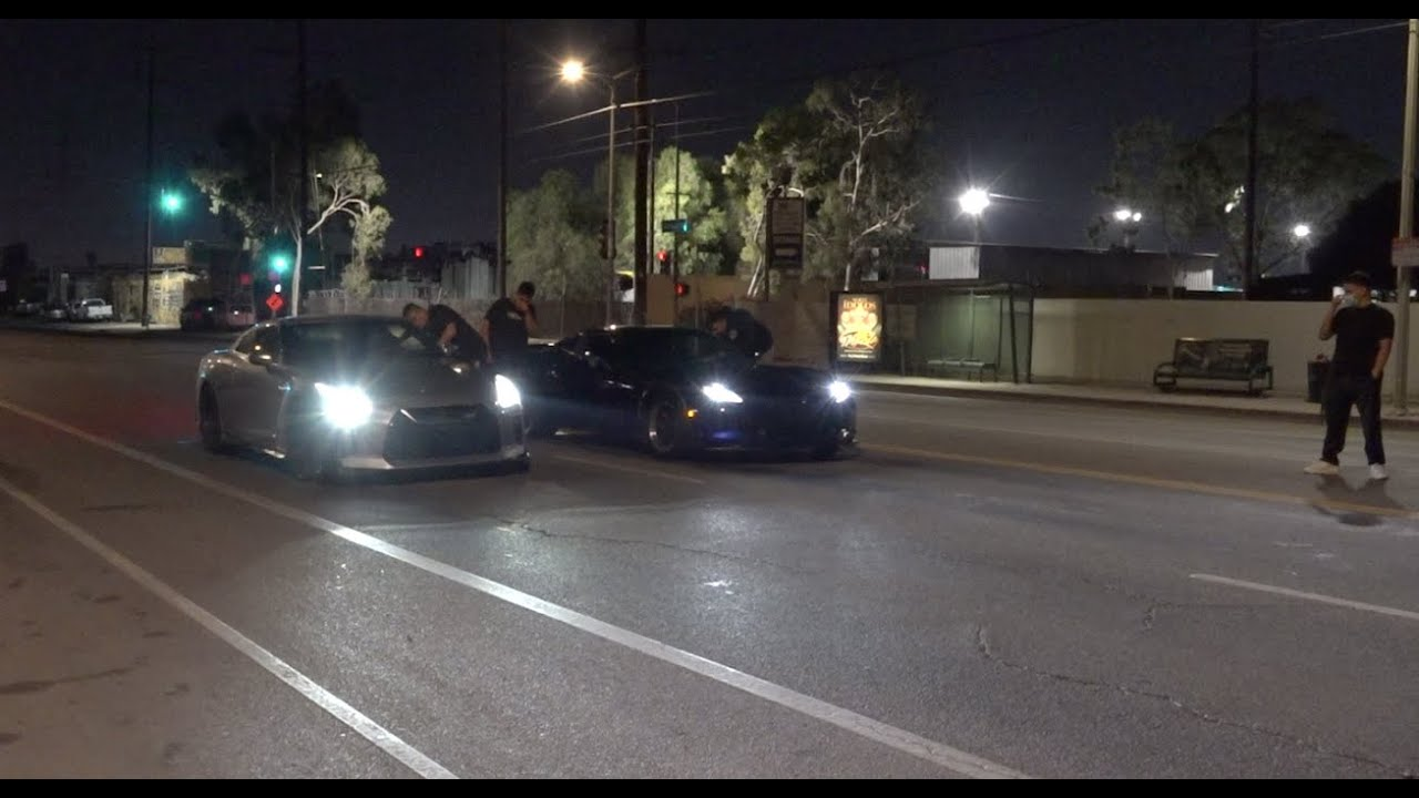 17 Year Old Races His Gtr Vs Corvette