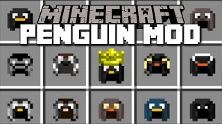 Minecraft PENGUIN MOD / BREED ALL TYPES OF PENGUINS AND PUT THEM IN YOUR ZOO!! Minecraft