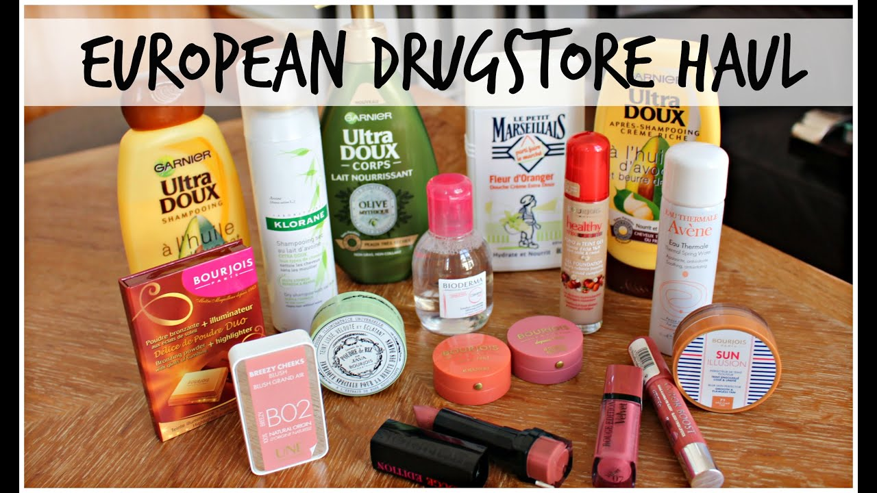 Drugstore Makeup Haul | France Edition 2015 - YouTube